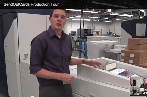 SendOutCards production tour