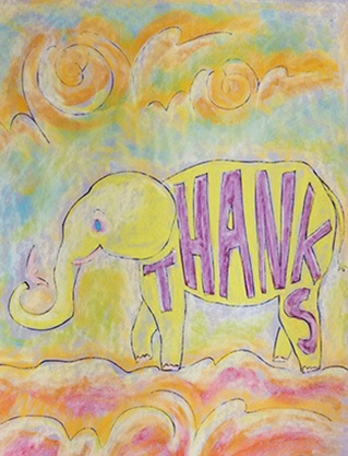 Childs Artful Thank You Card